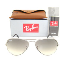 New & Authentic Ray-Ban RB 3025 003/32 Silver Frame / Grey Gradient Lens 58mm