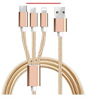 Suitable for Apple data cable one drag three type-C Android braided three in one USB mobile phone gift fast charging wire