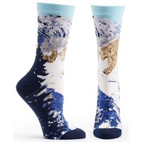 Endangered Cats Snow Leopard Sock