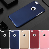 Luxury Matte Rubber Hard Slim PC Frosted Phone Cases For iphone 6 6s 7 plus iphone7 Cover coque -0316