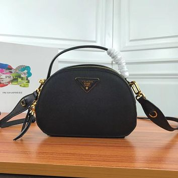 prada women leather shoulder bags satchel tote bag handbag shopping leather tote crossbody satchel shouder bag 9