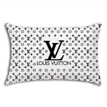 Lv Black Logo Pattern for Pillow Case (20 X 30 Inches (Two Side))