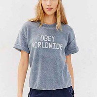 OBEY Belushi Fleece Top- Blue