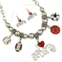*[N/LS]-The Sports Mom Ultimate Sport Necklace Set