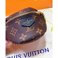 LV Louis Vuitton Stylish Women Personality Leather Mini Handbag Tote Wrist Bag Wallet Purse