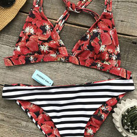 Cupshe Fresh Strawberry Print Bikini Set