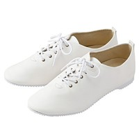 Women Flat Ballet Shoes Off White