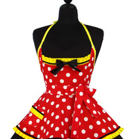 Pin Up MINNIE MOUSE Double Skirt Apron - Limited Edition