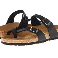 Beauty Ticks Birkenstock Mayari Sandals Black Oiled Leather