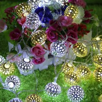 Creative Colorful Stylish Bright Box Hollow Out Christmas Decoration Lights [18778521620]