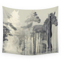 Society6 Like A Horse In The Woods Wall Tapestry