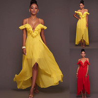 New Summer Sexy Women Maxi Dress Red Yellow Long Dress Multiway Bridesmaids Convertible Wrap Party Dresses Robe Longue Femme