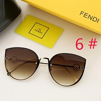 Fendi fashion New polarized shades eyeglasses cat eye contrast color personality women sunglasses