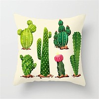 Colorful Cactus Decor Pillow Covers - Ships USPS 4 - 7 Days
