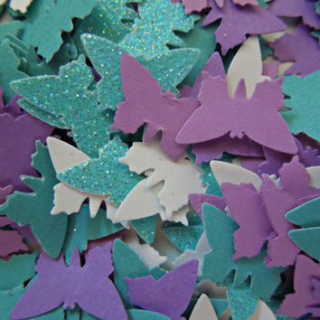Butterfly Confetti Embellishments Cardstock Mixed Colors Over 300