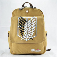 Attack on Titan Backpack (Caramel/Gray/Blue)