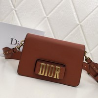 DIOR WOMEN'S LEATHER INCLINED SHOULDER BAG