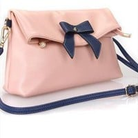 Cute Bowknot Pink Crossbody Bag from alanchen