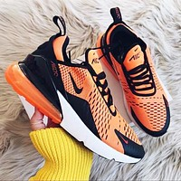 NIKE Air Max 270 Fashionable Men Breathable Air Cushion Sport Shoes Sneakers Orange