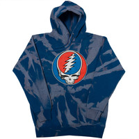 "Virus Tie Dye Hoodie Acid Wash ""Grateful Dead"" Blue"