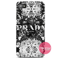 Prada Milano Fashion Flower Blackberry Case Z10, Q10, Dakota Cover