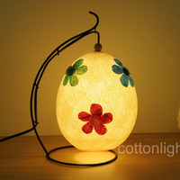 Cotton ball lantern with mix flower lamp lantern bed head lamp handmade display light home present decor