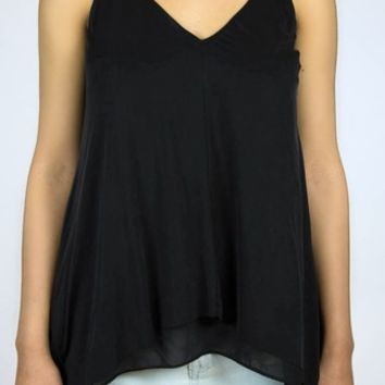 Do & Be | Cupro Layered Cami in Black