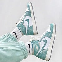 Nike Air Jordan 1 Retro High Turbo Green Basketball Shoes Sneakers
