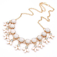 Resin Bubble Beads Statement Necklace Women Rhinestone Necklace & Pendants Summer Style Jewelry colar For Gift Party