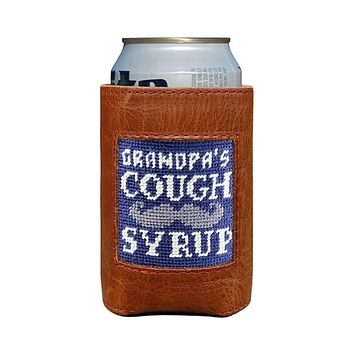 Grandpa's Cough Syrup Needlepoint Can Cooler by Smathers & Branson