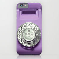 OLD PHONE - VIOLET EDITION for Iphone iPhone & iPod Case by Simone Morana Cyla