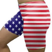 Outta Bounds Stars and Stripes spandex shorts Custom (Available in 3 lengths)