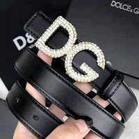 D&G Dolce & Gabbana 2019 new diamond-studded buckle belt