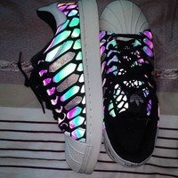 """""""ADIDAS"""" Fashion Chameleon Reflective Sneakers Sport Shoes"""
