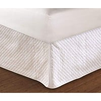 """Greenland Home Fashions Accessories Collection Diamond White Color Full Bed Skirt 18"""", Quiltedd"""