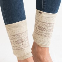 Let It Snow Taupe Boot Cuff