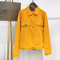 LV New fashion monogram print couple long sleeve coat