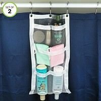 Evelots Shower Caddy-Organizer-Easy Bottle Squeeze-5 Pockets-Soap-Shampoo-Set/2