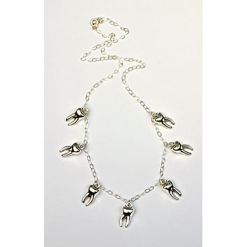 The Betty Collection: Silver Teeth Necklace