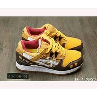 """ASICS GEL LYTE"" TRENDING Sneakers Running shoes Gray shoes F-HAOXIE-ADXJ  Yellow - Brown"