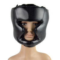 Black Helmet Head Guard Boxing Headgear Head Guard Training Helmet Protection Kick Boxing Protect Gear