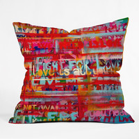 Randi Antonsen All We Need Is Love Throw Pillow