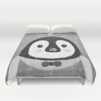 Snow Bird Duvet Cover by Noonday Design