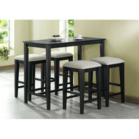 Monarch Specialties I 1919 Black Grain Counter Height Kitchen Table