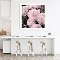 nordic decoration home canvas painting Peonies Posters and Prints Flower picture nordic Wall art pictures for living room