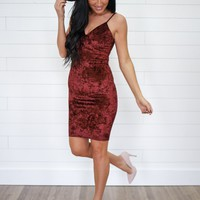 Holiday Hills Dress - Wine