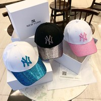 """New York"" Unisex Fashion Sequin Letter Embroidery Baseball Cap Couple Multicolor Peaked Cap Sun Hat"
