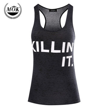 Killin' It Gym Workout Tank Top. Funny Running Gym Workout Shirt. Women's Workout Clothes. Tanks With Sayings