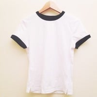 Basic White Ringer Tee