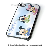Baby Mickey Mouse, Goofy And Minnie Mouse Cartoon iPhone 4 4S 5 5S 5C 6 6 Plus Case , iPod 4 5 Case , Samsung Galaxy S3 S4 S5 Note 3 Note 4 Case , and HTC One X M7 M8 Case